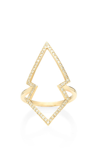 Zoe Chicco - 14K Pave Open Arrowhead Ring