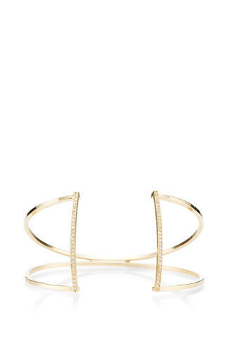 14 K Pave Open Bar Cuff by ZOE CHICCO for Preorder on Moda Operandi