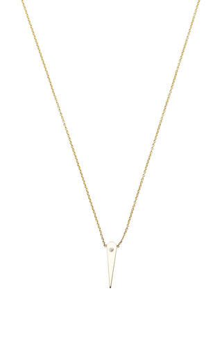 14K Diamond Small Thorn Necklace by Zoe Chicco for Preorder on Moda Operandi