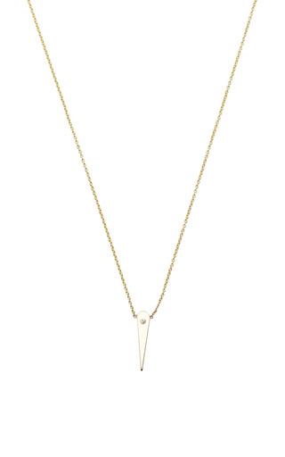 14 K Diamond Small Thorn Necklace by ZOE CHICCO for Preorder on Moda Operandi