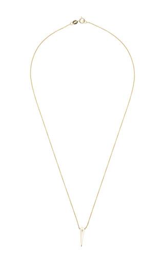 14K Diamond Small Thorn Necklace by Zoe Chicco for Preorder on Moda Operandi