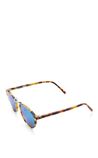 Spektre Audacia Sunglasses In Havana With Green Mirror Lens by Spektre for Preorder on Moda Operandi