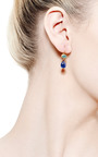 One of a Kind Oval Paraiba and Blue Cabochon Sapphire Apple and Eve Earrings by Mallary Marks for Preorder on Moda Operandi