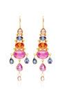 Rose Cut Pear Shape Brown Diamond Chandelier Earrings by Mallary Marks for Preorder on Moda Operandi