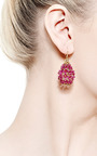Ruby Russian Dome Earrings by Mallary Marks for Preorder on Moda Operandi