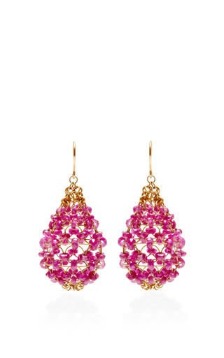 Ruby Russian Dome Earrings by Mallary Marks for Preorder on Moda Operandi