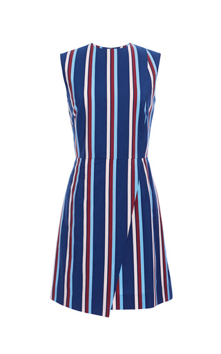 Teverina wrap dress in small multi stripe by APIECE APART Preorder Now on Moda Operandi