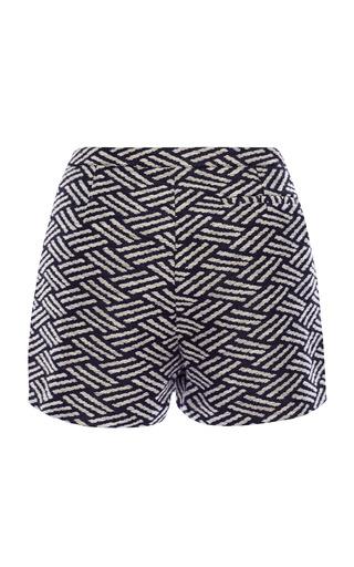 Navy Thatch Jacquard Veneta Short Shorts by Apiece Apart for Preorder on Moda Operandi