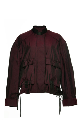 Constructed bomber with webbing detail by ALEXANDER WANG Preorder Now on Moda Operandi