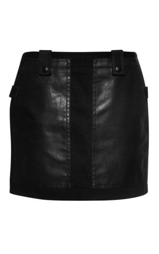 Cargo miniskirt with webbing detail by ALEXANDER WANG Preorder Now on Moda Operandi