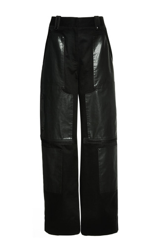 Oversized cargo pant with webbing detail in matrix by ALEXANDER WANG Preorder Now on Moda Operandi