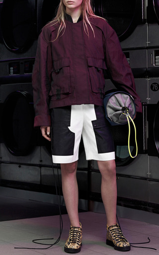 Cargo Short With Webbing Detail in Bleach by Alexander Wang for Preorder on Moda Operandi