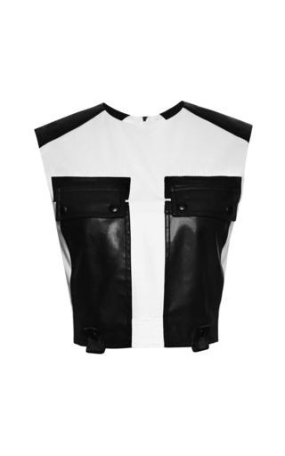 Cargo crop top with webbing detail by ALEXANDER WANG Preorder Now on Moda Operandi