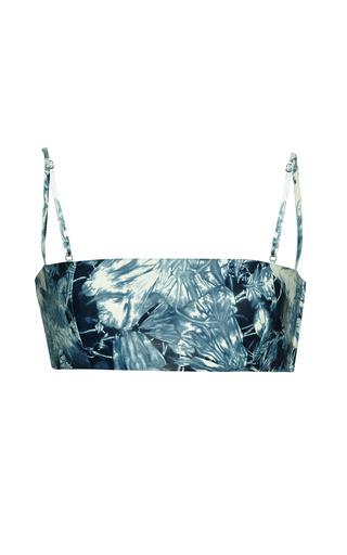 Tie dye leather bandeau in sapphire by ALEXANDER WANG Preorder Now on Moda Operandi