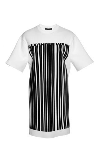 Logo barcode tee dress by ALEXANDER WANG Preorder Now on Moda Operandi