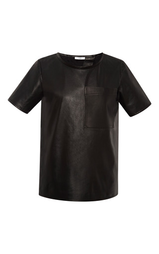 Leather t-shirt by TOME Preorder Now on Moda Operandi