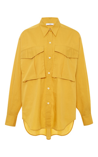 Cotton poplin double pocket shirt by TOME Preorder Now on Moda Operandi