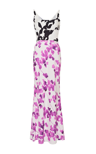 Printed multi floral silk dress by NARCISO RODRIGUEZ Preorder Now on Moda Operandi