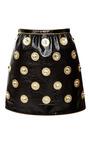 Black Crinkle Leather Mini Skirt by MARC JACOBS for Preorder on Moda Operandi