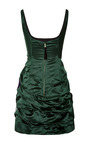 Marc Jacobs - Emerald Silk Duchess Tank Dress With Sequined Bow