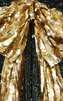 Marc Jacobs - Emerald Vintage Sequin V-Neck Dress With Gold Bow