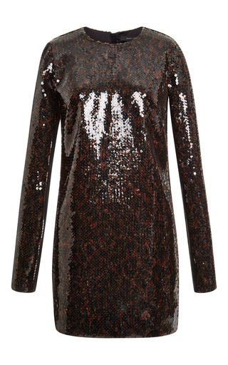 Cocoa leopard sequin mini crew neck dress by MARC JACOBS Preorder Now on Moda Operandi