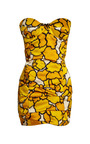 Marc Jacobs - Gold Petal Bustier Dress