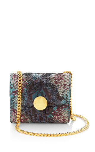 Marc Jacobs - Mini Trouble Bag In Blue Python And Paillettes