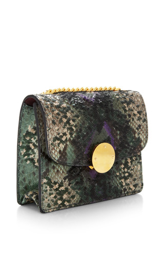 Mini Trouble Bag In Green Python And Paillettes by Marc Jacobs for Preorder on Moda Operandi