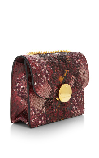 Mini Trouble Bag In Red Python And Paillettes by Marc Jacobs for Preorder on Moda Operandi
