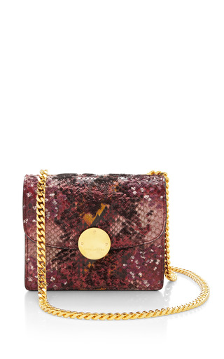 Marc Jacobs - Mini Trouble Bag In Red Python And Paillettes