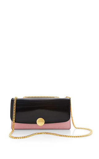 Double trouble bag in polished baby pink with deep gold by MARC JACOBS Preorder Now on Moda Operandi
