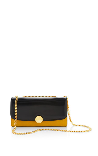 Double trouble bag in polished sunflower with deep gold by MARC JACOBS Preorder Now on Moda Operandi