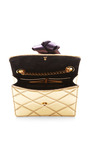 Marc Jacobs - Mini Trouble Bag In Metallic Gold With Violet Party Bow