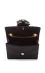 Marc Jacobs - Mini Trouble Bag In Black Satin With Party Bow