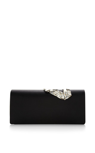 Marc Jacobs - Double Trouble Clutch With Embroidered Antique Silver Bow