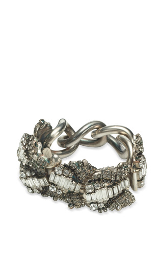 VICKISARGE - One Of A Kind Chain Bracelet With Crystal Diamonds