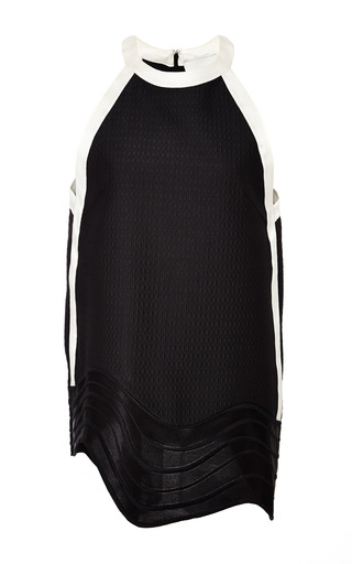 Sleeveless top with embroidered hem in black by 3.1 PHILLIP LIM Preorder Now on Moda Operandi