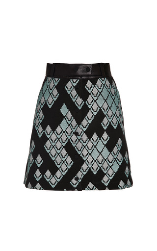 A-line skirt with leather belt in celadon by 3.1 PHILLIP LIM Preorder Now on Moda Operandi