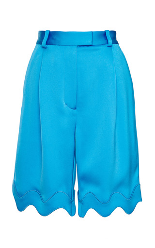 Embroidered ric-rac bermuda shorts in caribbean by 3.1 PHILLIP LIM for Preorder on Moda Operandi