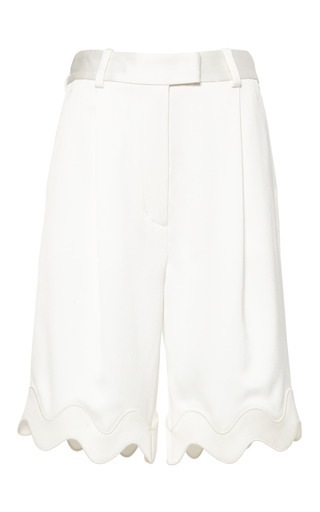 Embroidered ric-rac bermuda shorts in antique white by 3.1 PHILLIP LIM for Preorder on Moda Operandi