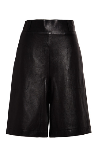Culottes with top stitch detail in black by 3.1 PHILLIP LIM Preorder Now on Moda Operandi