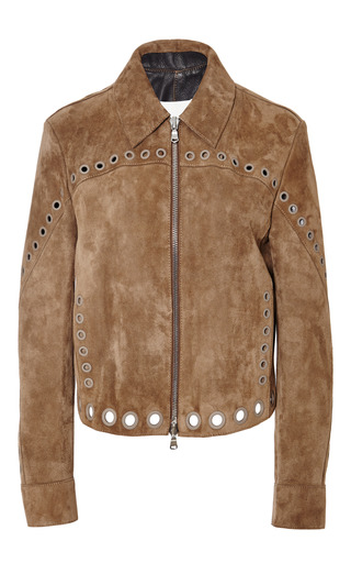 Boxy jacket with grommet detail in cuoio by 3.1 PHILLIP LIM Preorder Now on Moda Operandi