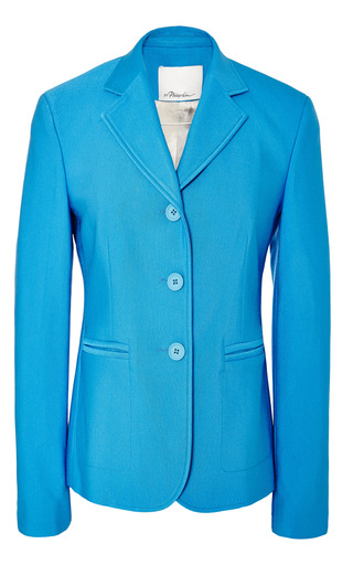 Jacket with rubber button closure in caribbean by 3.1 PHILLIP LIM Preorder Now on Moda Operandi