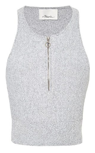 Sleeveless cropped zip-up tank by 3.1 PHILLIP LIM for Preorder on Moda Operandi