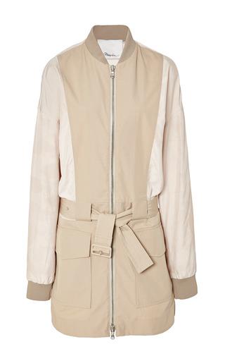 Safari jacket with trapunto belt in khaki by 3.1 PHILLIP LIM for Preorder on Moda Operandi