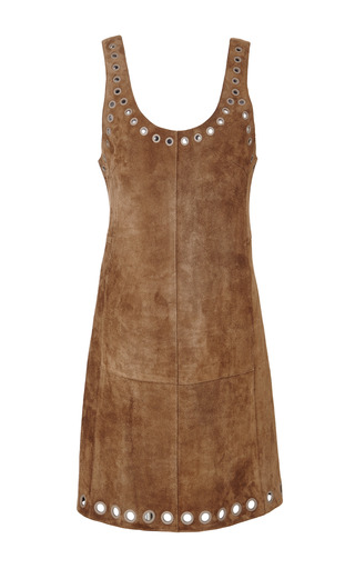 Scoop neck dress with grommet detail in cuoio by 3.1 PHILLIP LIM Preorder Now on Moda Operandi