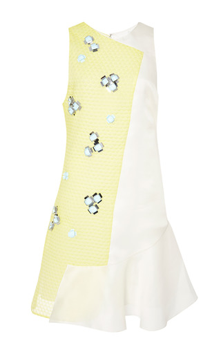 Sleeveless dress with paillette embellishment in yellow by 3.1 PHILLIP LIM Preorder Now on Moda Operandi