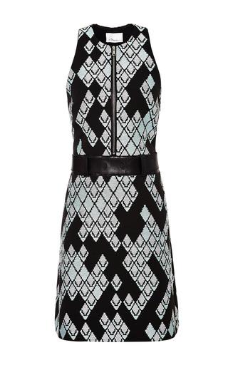 A-line zip front dress in celadon by 3.1 PHILLIP LIM Preorder Now on Moda Operandi