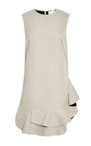 Sleeveless dress with ruffle and raw edge by 3.1 PHILLIP LIM for Preorder on Moda Operandi
